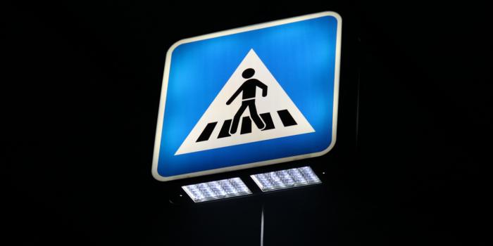 C02 znak s unutrašnjim osvjetljenjem